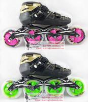 Original powerslide VE speed skating shoes Professional  adult child roller skates with matter inline skates wheels