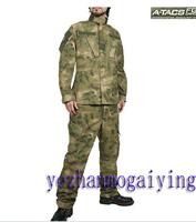 BDU A-TACS FG Camouflage suit sets Army Military uniform combat Airsoft uniform -Only jacket & pants