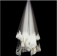 2014 paillette lace beige bridal soft net  1.5*1.5 meters quality lengthen veil