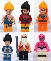 Dragon Ball Son Goku Vegeta Master Roshi Figures Toys 6pcs/lot Building Block Sets Model DIY Bricks Toys For Children