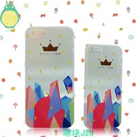 10pcs/lot Free shipping - Ultra-thin Frosted Colorful Patterned Phone Cases Cartoon for iphone 5 5s case