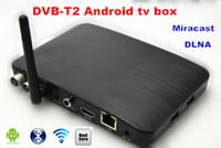 2014 New  U16-2A  DVB-T2 Dual core DVBT  Android TV BOX  set top box with IR remote