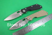 Free shipping Strider Stone sand ripples surface 58HRC G10+Stainless Steel curved Handle Folding Knife