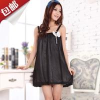 Free shipping spaghetti straps empire Summer women's temptation bow silk nightgown female sleepwear lounge