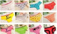 VS foreign trade the original single girl Victoria underwear pink cotton underwear lady Wholesale underwear briefs 50pcs/lot