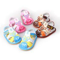 fashion cute cartoon bear prewalker first walker flats sandals shoes for kids children baby boys girls female male summer wear