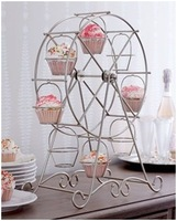 2015 Sale free Shipping-2014new!1 Set 8cups Ferris Wheel Birthday Party Hotel Cake Decoration Wedding Towers Tree Dressert Stand