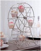 Free shipping-2014NEW!1 set 8cups ferris wheel birthday party hotel cake decoration wedding towers tree cake dressert stand