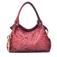 Free Shipping New 2014 Women Vintage Hollow out Leather Handbag Fashion Women's Shoulder Bag morer #580