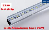 5pcs/lot 50cm 5730chip LED Bar 12V Hard Rigid Strip Bar Light 36leds+Aluminium Alloy Shell Housing Tiras Strip light For Cabinet