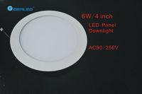 Free shipping DHL/FEDEX 4inch/6W Led panel light 10pcs/lot new Ultra thin design Downlight AC90-250V