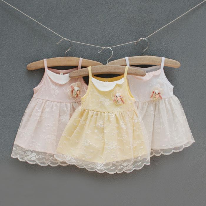 2014 New Arrival Time-limited Silk Above Knee, Mini Military 8188 Summer Latest Idea Love Korean Lace Dress Kids Winnie 0.32(China (Mainland))