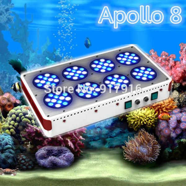 2014 Freshwater Aquarium Light 288W (96*3W) LED Aquarium Light Apollo 8 White Blue 1:1 For Fish Coral Reef(China (Mainland))
