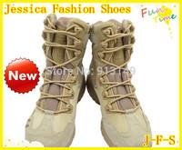 2014 side zipper  Desert waterproof male boots U.S. marines combat boots  tactical outdoor men boots