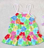 New 2014 Summer dresses baby summer shoulder-straps dress Girl dress kids dress for girl Children dress 1-3 years free shipping