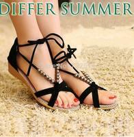 2014 Summer Fashion Slippers Women Sandals Flops Flat Shoes Open Toe Women Wedges Sandals Women's Sandals Free Shipping