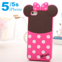 For iphone 5 5s case New silicone sulley minnie mickey mouse alien cell phone back skin cases cover for iphone5 free shipping