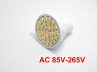 2X  GU10 bulbs 30 leds 5050 chip AC  85V-265V led spotlighting white warm white downlight lamp
