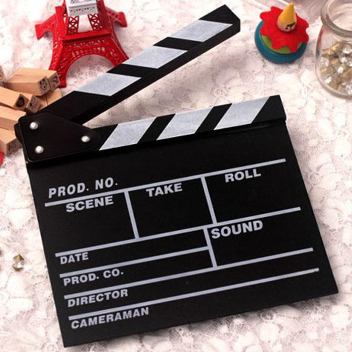 Director Video Scene Clapperboard TV Movie Clapper Board Film Cut Prop(China (Mainland))