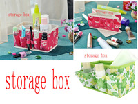 Folding makeup box Cosmetics box Receive private small bags must receive a case storage box Color random delivery
