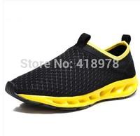 2014 male sandals breathable male cutout gauze hole shoes summer sandals fashion sports bag