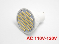 10X GU10 3W LED 60 SMD 3528 WARM WHITE 3000K 6000K AC  110V -120V Spotlight bulb lamp