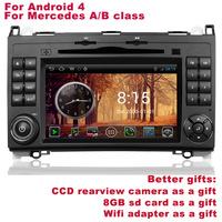 New Android 4 Mercedes B200 A B class Navigation DVR WIFI 3G Better Quality Better Service Free Shipping+Better gifts included