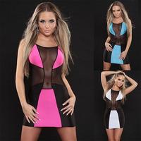 New Arrival Women Dress Novelty Sexy Dress Lady Intimate Vestido Nightwear Hot Party Dress Clubwear Blue White Black Color