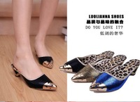 2014 bohemia sandals for women summer shoes women flip beaded flower flip-flop flat sandals 36-39