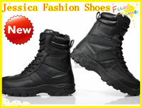 BIG DISCOUNT!! Knee High lace up waterproof 100% high quality Male tactical operation desert male boots