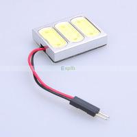 Long Life 5W 12V COB Chip 3 LED Car Auto Interior Light White/Warm white 50pcs/lot