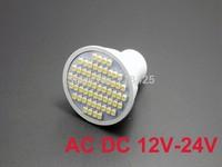 10X  GU10 Warm White/Pure White  LED Bulb Lamp Spotlight 3528 SMD 60 LED AC DC 12V-24V