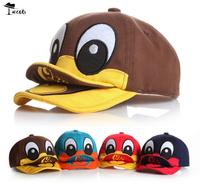 Cap free shipping (5 pcs/Lot ) Wholesale best price 5 colors cute animals double tougue baby baseball caps MZ1770