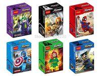 Baby Toys 0147-152 Super Heroes Avengers PHOENIX BLACK WIDOW JOKER Minifigures building Blocks Toys compatible Legoland figures