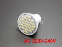 5X GU10 3W LED 60 SMD 3528 WARM / PURE WHITE 3000K 6000K Spotlight bulb lamp   AC  220V -240V