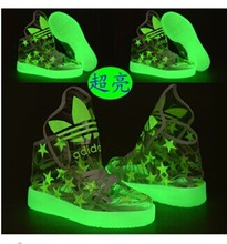 new style luminous shoes tongue skeleton is high for men and women lovers shoes fluorescence trends dancing shoes(China (Mainland))