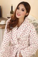 Lovers pajamas suit men and women coral fleece winter thick flannel pajamas coral fleece pajamas