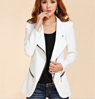 OWIND women OL leisure suit  Korean Slim gold buckle suit autumn coat  female outerwear female casual blazer