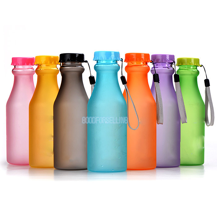 Leak Proof Plastic Portable Conveniently Unbreakable Sealing Frosted Bottles(China (Mainland))