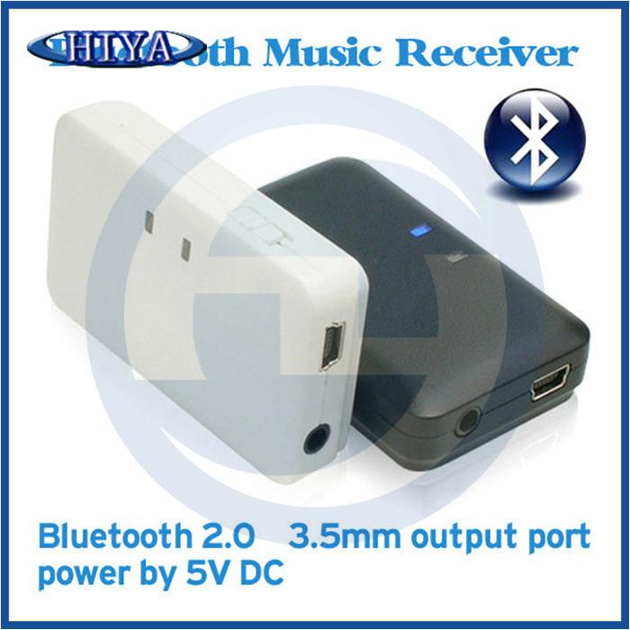 Free Shipping Bluetooth Wireless Receiver 2.0 A2DP AVRCP Bluetooth Stereo Receiver 3.5mm Audio Output Bluetooth Receiver ,15pcs(China (Mainland))