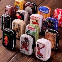 Free shipping!Retro 16style high quality mini Tin Storage box/ jewelry Box/ Multi-purpose Storage Case Wholesale32pc