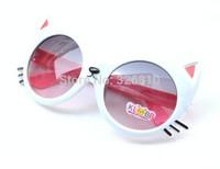 2014 cat Shape Anti-UV Sunglasses Children Sunglasuses Baby Sunglasses glasses for kids Free Shipping!