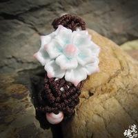 Ceramic bracelet chinese redbud bracelet female accessories jewelry handmade knitted