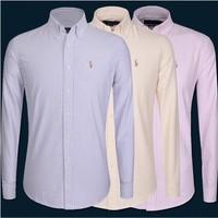 Paul man spring 2014 men's long-sleeved polo shirt men Men Slim striped cotton shirt mens dress shirts casual shirts