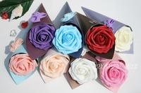 7cm 14 colors 100pcs round rose arch flower head Wedding bouquet artificial PE foam rose fake flower wedding decor flowers A29