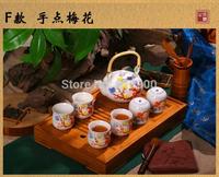 jingdezhen  ceramic tea set 7pcs, beam pot , kung fu tea cup  with gift box