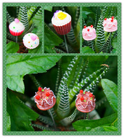 free shipping  Cake resin decoration bryophytes flower decoration props