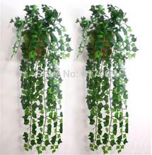 Min.Order é $ 10 (ordem da mistura ) 7,5 pés Ivy Artificial Folha Garland Plantas Vine Falso Folhagem Flores decoração Home JE083(China (Mainland))