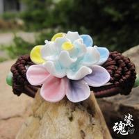 Ceramic accessories ceramic bracelet female multicolour fashion vintage flower bracelet