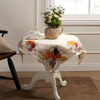 "Easter Harvest Season Square Tablecloths 85X85CM SQ(33X33"")"